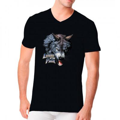 Leader of the Pack - Rudelführer Cooler Wolf für dein T-Shirt, Sweatshirt oder V-Neck. Vorsicht bissig!