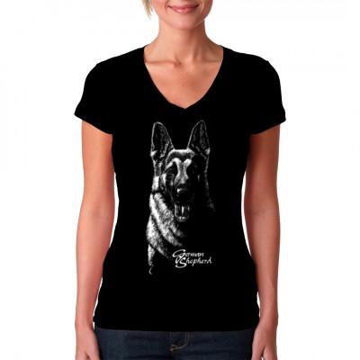 Hunde T-Shirt: German Shepherd, Tiere & Natur, Hunde, Hunde