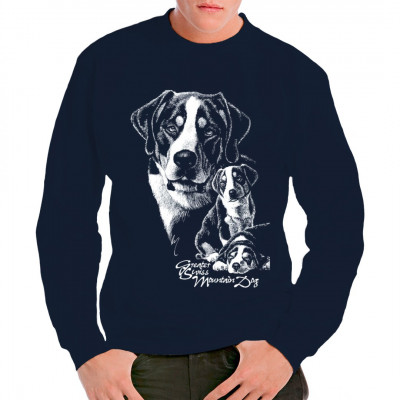 Shirt Motiv: Großer Schweizer Sennenhund, Tiere & Natur, Hunde, Hunde