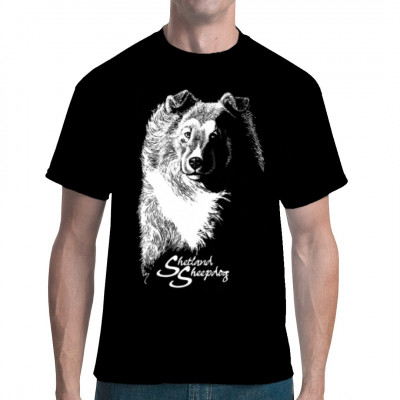 Hunde T-Shirt: Shetland Sheepdog Sheltie, Tiere & Natur, Hunde, Hunde