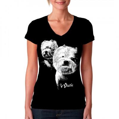 Shirt Motiv: Westi Rassehund, Tiere & Natur, Hunde, Hunde