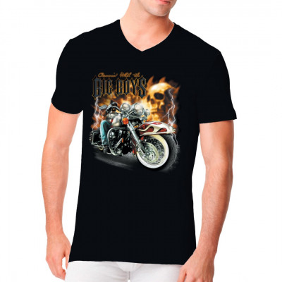 Biker Motiv: Running with the Big Boys, Männer & Frauen, Biker, Totenköpfe, Biker