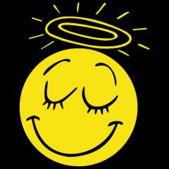 Angel Smiley, FUN Shirt, Cooles Motiv, Engel, Unschuld, Comic