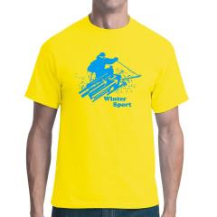 Wintersport: Abfahrtslauf (blau)