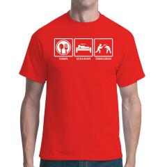 Survival Fun Shirt: Essen Schlafen Überleben