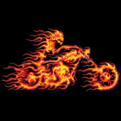 WS 13445 Flaming Bike, Motorrad, Fire, Mystik