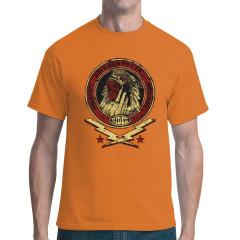 Biker Shirt: Indianer Totenschädel, Custom Tradition