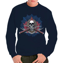 Totenkopf mit gekreuzten Schwertern Oversize Shirt