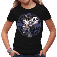 Gothic Girl mit Schädel