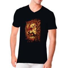 Brennender Löwenkopf