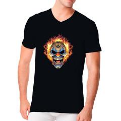 Brennender Clownschädel