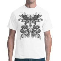 Schlangen, Dolche und Kreuz