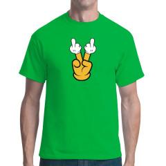 Fun Shirt Doppelter Stinkefinger