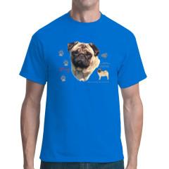T-Shirt: Mops Hund