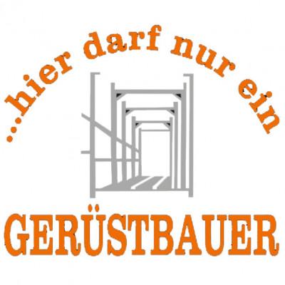 Gerüstbauer-Black Sprüche, Arbeit, cooles Motiv