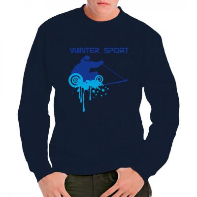 Wintersport: Ski (blau)