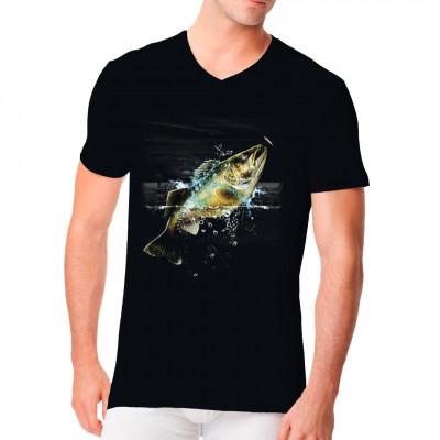 Angler - Motiv: Glasaugenbarsch in der Wildnis