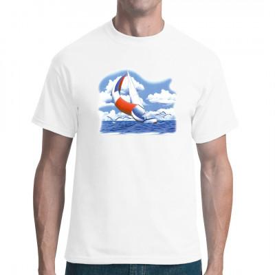 Großes farbiges Segelschiff Stillleben