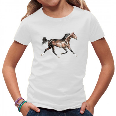 Pferdemotiv - Rennender brauner Hengst