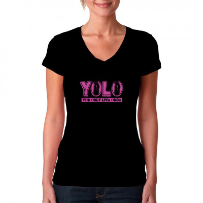 Hipster-Motiv: YOLO - You Only Live Once