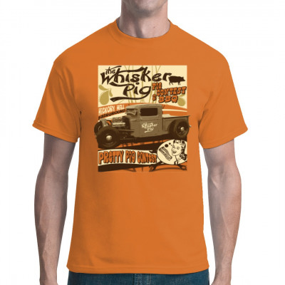 Hot Rod T-Shirt: The Whisker Pig