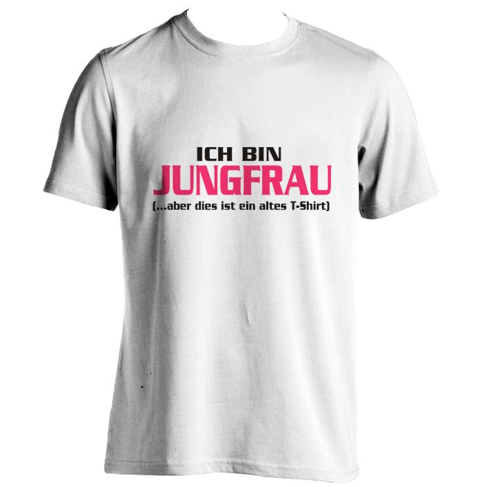 Ich Bin Jungfrau T Shirt Selbst Gestalten Drucken Im Shirtde