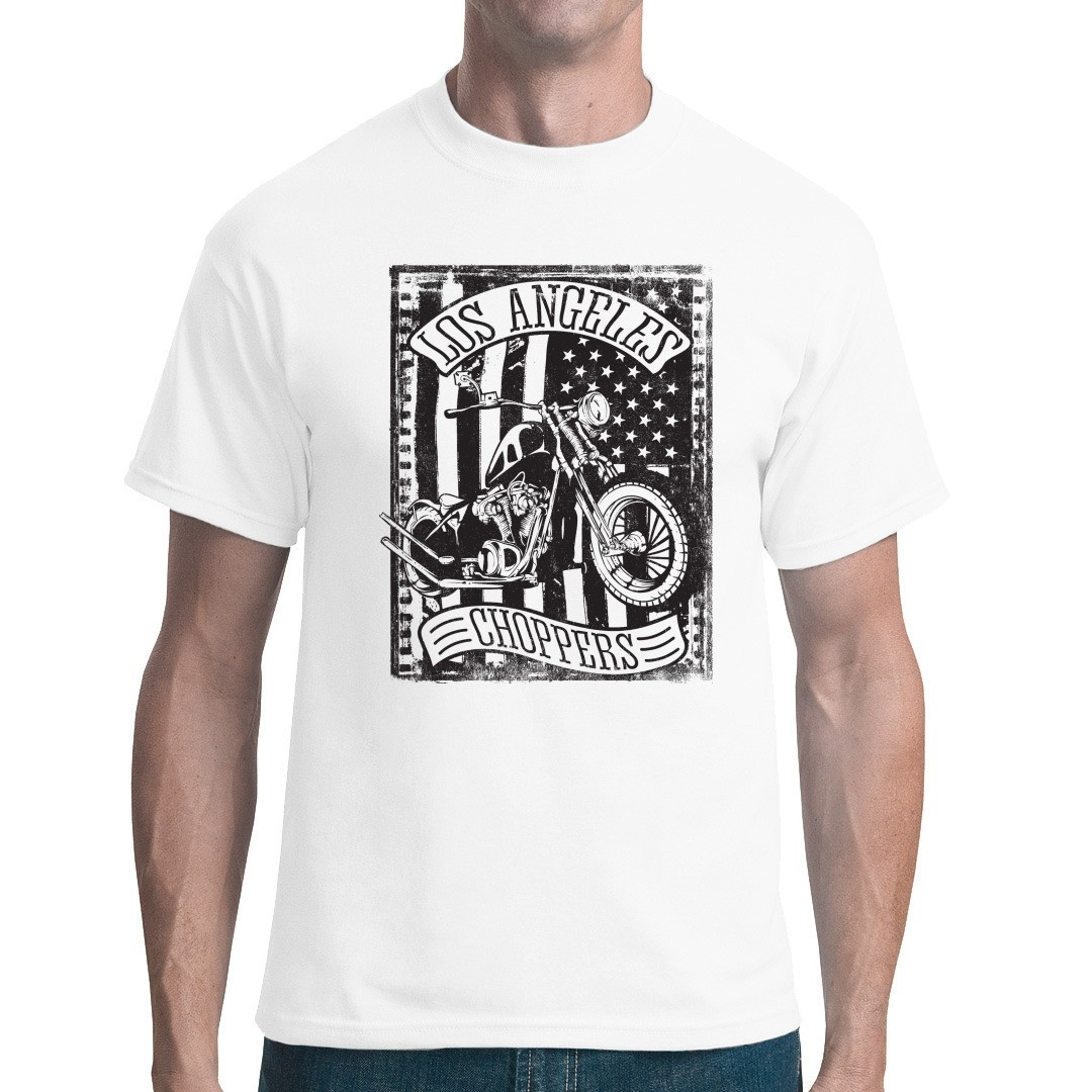 Los Angeles Choppers Biker Shirt T Shirt Selbst
