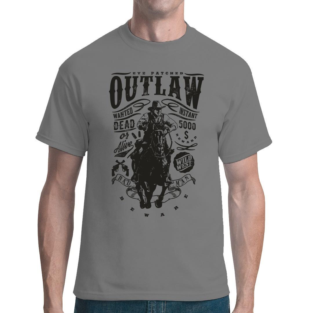 Outlaw Cowboy Shirt T Shirt Selbst Gestalten Drucken