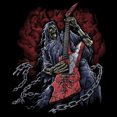 Hatchet Man - Skelett mit Gitarre