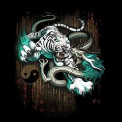 Fantasy Shirt: Death match, Tiger vs. Drache