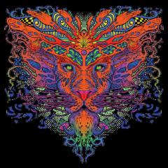 Trippy Lion - Neon Löwe