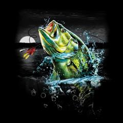 Angler - Motiv: Barsch in der Wildnis