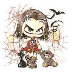 Goth-Kid mit Spinnweben