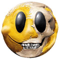Zombie lachendes Gesicht