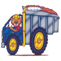 Kindermotiv - LKW mit Bär