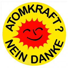 Atomkraft-Black-Sprüche Politik, Kernenergie, Button, Demonstration