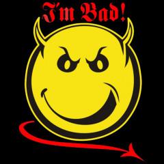 Bad Smiley, FUN Shirt, Cooles Motiv, Sonnenschein, Comic, Teufel