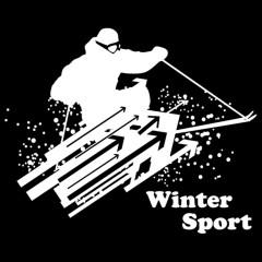 Wintersport: Abfahrtslauf  (weiß)