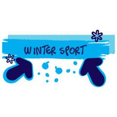 Wintersport Schneefall (blau)