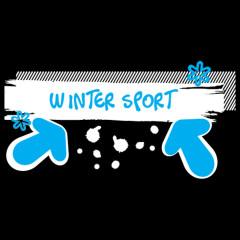 Wintersport Schneefall (weiß)