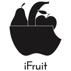Motiv: iFruit Apfel, Banane, Birne, Obstkorb