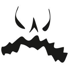 Halloween Kürbis Gesicht auf deinem Shirt