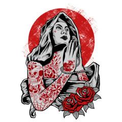 Heilige Maria Tattoo Style