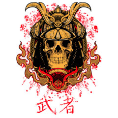 Samurai Totenschädel