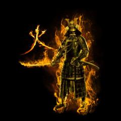 Flammender Ronin