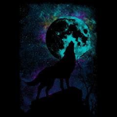 Wolfs -  Silhouette vor Vollmond