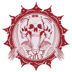 Skullsiegel Piraten Totenköpfe mit Schwertern
