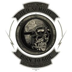 Old School Biker Skull