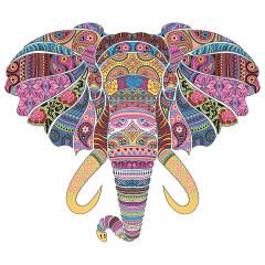 Kaleidoskop Elefant