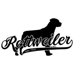 Rassehund Rottweiler (schwarz)